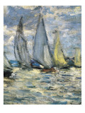 The Boats, or Regatta at Argenteuil Premium Giclee Print by Claude Monet