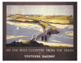 Country from the Train Poster