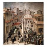 Mercato Vecchio Square Posters by Giovanni Stradano