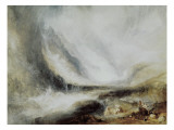 Snowstorm and Avalanche in Val D'Aosta Giclee Print by William Turner