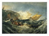 The Shipwreck of the Minotaur Premium Giclee Print by J. M. W. Turner