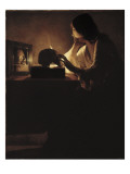 The Repentant Magdalen Premium Giclee Print by Georges de La Tour