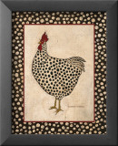 Spotted Chicken Kunstdruck von Warren Kimble