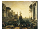 Claude Lorrain - Ulysses Returning Chryseis to Her Father - Poster