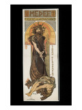 Sarah Bernhardt as Medee at the Theatre De La Renaissance Premium Giclee Print by Alphonse Mucha