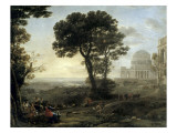 Claude Lorrain - View of Delphi with Procession - Poster