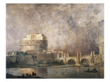 Castel Sant'Angelo Giclee Print by Ippolito Caffi