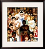 """Golden Rule"" (Do unto others), April 1,1961 Framed Giclee Print by Norman Rockwell"