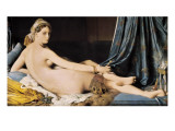 La Grande Odalisque Giclée-Premiumdruck von Jean-Auguste-Dominique Ingres