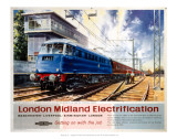London Midland Electrification, Getting on with the Job, Wilmslow Cheshire Print