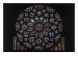Notre-Dame Cathedral of Chartres, Rose Window on the Northern Side Prints