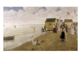 The Beach of Sanlúcar De Barrameda Giclee Print by Joaquin Turina Arenal