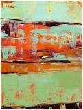 Horizon Blaze I Print by Janice Sugg