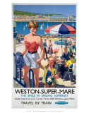 Weston-Super-Mare, the Smile in Smiling Somerset Print
