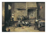 Monkeys in the Kitchen Giclee Print by David Teniers the Younger