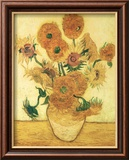 Vase of Fifteen Sunflowers, c.1888 Posters by Vincent van Gogh