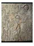 Akhenaten and His Family to the Aten Premium Giclee Print