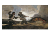 Duel with Cudgels Prints by Francisco de Goya