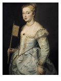 A Woman with a Fan Giclee Print by Peter Paul Rubens