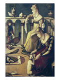 Two Venetian Ladies Plakater af Vittore Carpaccio