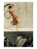 Portrait of Isadora Duncan Poster by Auguste Francois Gorguet