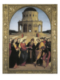 The Marriage of the Virgin Reproduction procédé giclée par  Raphael