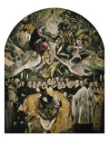 The Burial of Count Orgaz Poster von  El Greco