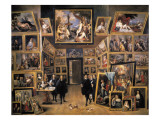Archduke Leopold Wilhelm in His Picture Gallery Giclee Print by David Teniers the Younger