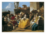 Carnival Scene or the Minuet Giclee Print by Giandomenico Tiepolo