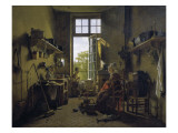 Interior of a Kitchen Giclee Print by Martin Drolling