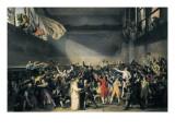 Oath Taken at the Jeu De Paume, 20 June 1789 Posters par Jacques-Louis David