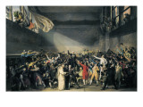 Oath Taken at the Jeu De Paume, 20 June 1789 Premium Giclee Print by Jacques-Louis David
