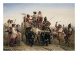 The Arrival of the Harvesters in the Pontine Marshes Giclee Print by Louis Leopold Robert