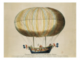 Experience of the Brothers Robert's Globe in the Tuileries Garden (19th September 1784) Prints