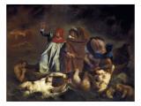Dante and Virgil or the Barque of Dante (La Barque De Dante) Posters by Eugene Delacroix