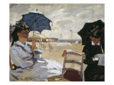 The Beach at Trouville Posters by Claude Monet