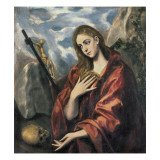 Mary Magdalen in Penitence Posters by  El Greco