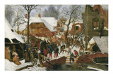 L'adoration des mages Affiches par Pieter Brueghel the Younger