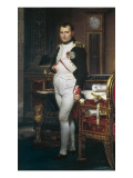 The Emperor Napoleon in His Study at the Tuileries Premium Giclee Print by Jacques-Louis David