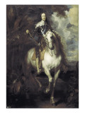 Charles I on Horseback Reproduction proc&#233;d&#233; gicl&#233;e par Sir Anthony Van Dyck