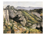 Rocks at L'Estaque Premium Giclee Print by Paul Cézanne