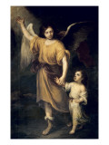 The Guardian Angel Giclee Print by Bartolome Esteban Murillo