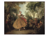 Mlle Camargo Dancing Giclee Print by Nicolas Lancret