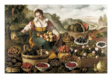 The Fruit Seller Giclee Print by Vincenzo Campi