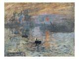 Impressione, sole nascente (blu) Poster di Claude Monet