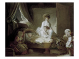 The Visit to the Nursery Print by Jean-Honoré Fragonard