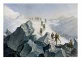 Saussure Descending from the Peak of Montblanc (August 1785) Giclee Print