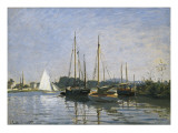 Pleasure Boats, Argenteuil Giclee Print by Claude Monet