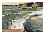 Departure of Boats Prints by Joaquín Sorolla y Bastida