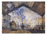The Gare St Prints by Claude Monet